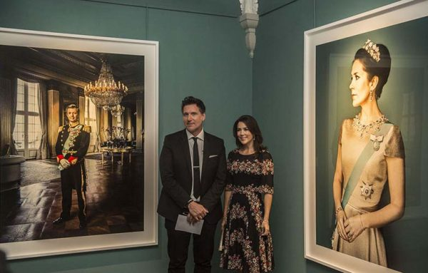 Marco Grob and Danish crown princess Mary at Frederiksborg Castle
